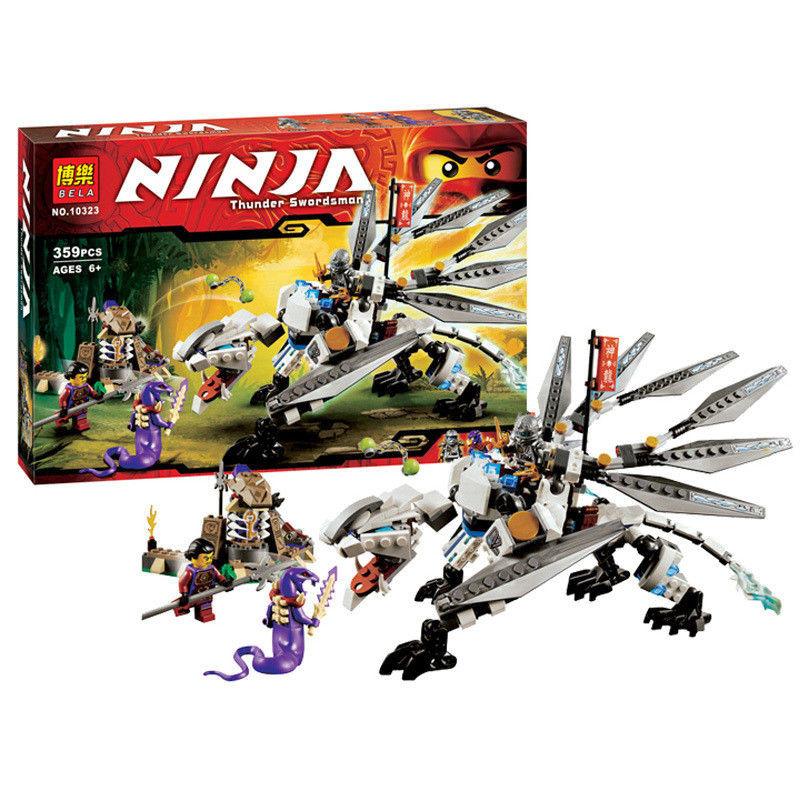 Конструктор Bela Ninja Титановый Дракон 10323, 359 деталей