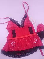 Пенюар красный розовой Ligian , фото 1