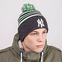 Спортивная шапка с помпоном - Артикул 8792