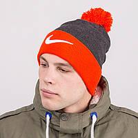 Мужская стильная шапка с помпоном - Nike - Артикул 8800