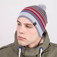 Мужская зимняя шапка с помпоном фирмы Vertex - Артикул 8802