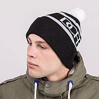 Молодежная спортивная зимняя шапка с помпоном - Артикул 8818