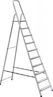 Лестница-стремянка стальная 10-ступенчатая  (рабочая высота 4.5м, высота до пдлщадки - 2,2 м)