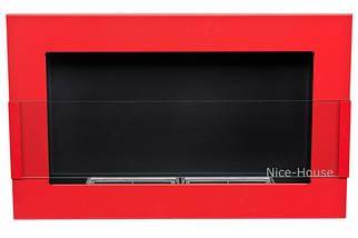 Биокамин Nice-House 65x40 см, красный, с стеклом, фото 3