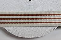ТЖ 40мм (50м) хб беж+оранж , фото 1
