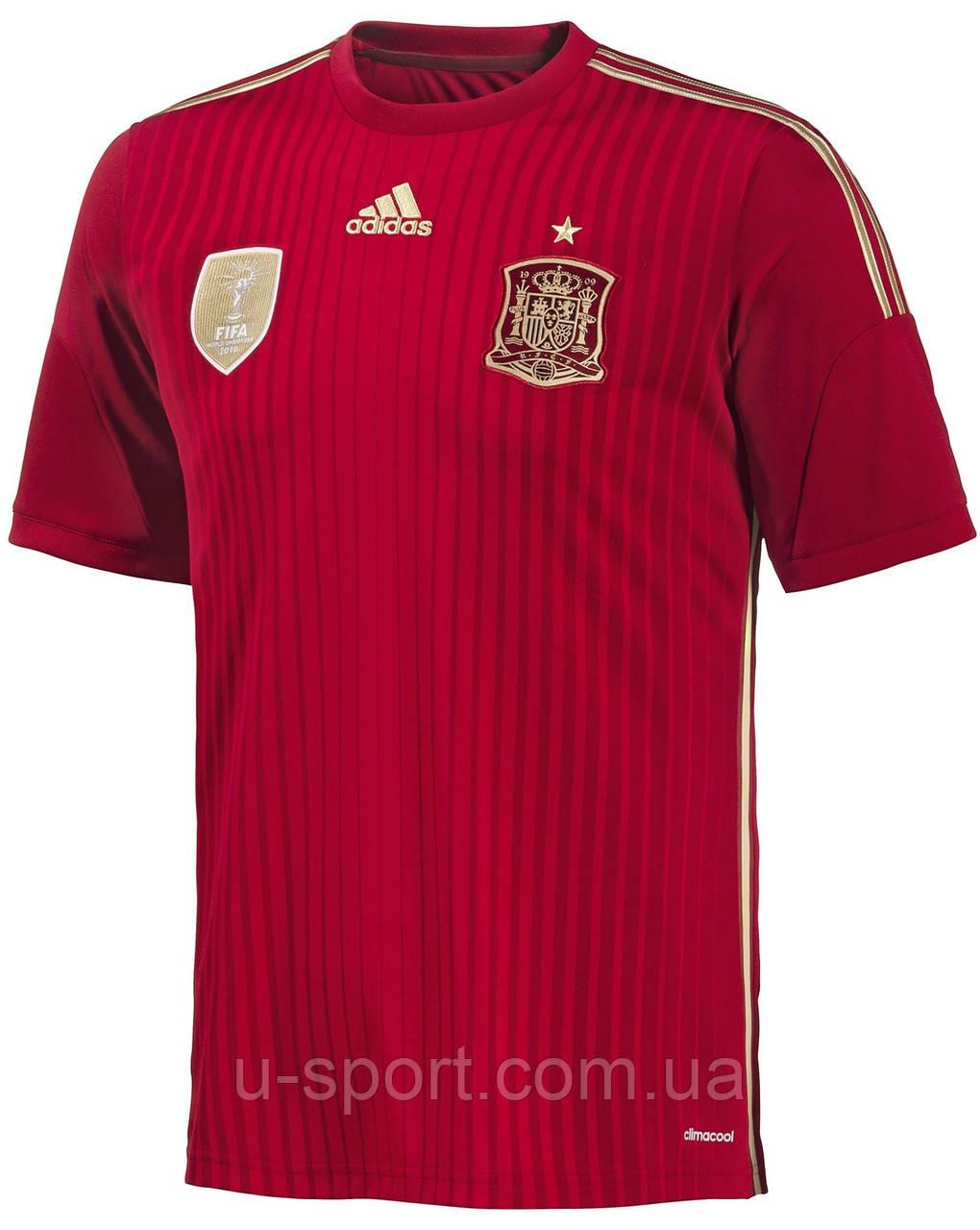 Футболки Adidas сборной Испании по футболу - Интернет-магазин мячей  U-sport.com af702ee7d96
