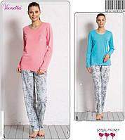 Домашний женский костюм (пижама) кофта и штанишки.