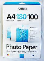 Фотобумага Videx MKA4-180/100 мат