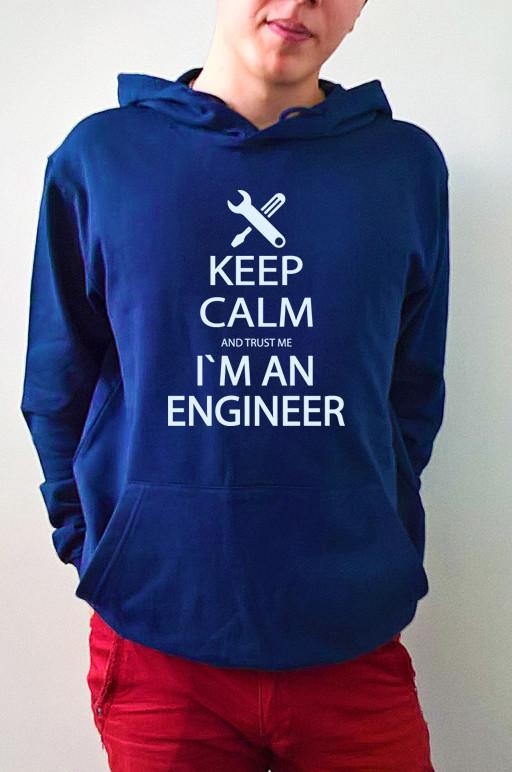 "Мужская толстовка ""Keep calm im an engineer"""
