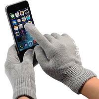 Перчатки iGlove для сенсорных экранов светло-серые, фото 1