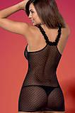 Красивая черная сорочка с кружевом Obsessive Piccorosa chemise, фото 2