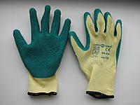 """Перчатки вязанные х/б """"Пена"""" зеленые, серые"""