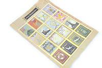 Набор декоративных стикеров Stamps Bronzing Stickers корона Парижа
