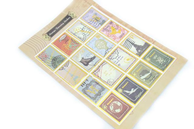 Набор декоративных стикеров Stamps Bronzing Stickers