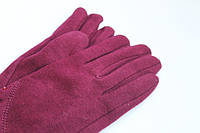Яркие женские перчатки из трикотажа бордовые Хмельницкий