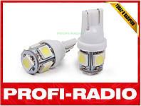 Габаритные огни, светодиодная авто лампа Sho-Me T10-5X Pro W5W