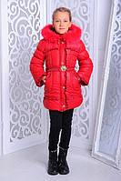 Детское зимнее пальто | Курточка в горошик