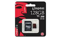 Карта памяти Kingston 128GB microSDXC C10 UHS-I U3 R90/W80MB/s 4K + SD адаптер