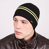 Модная мужская вязаная шапка в полоску - Артикул m16c