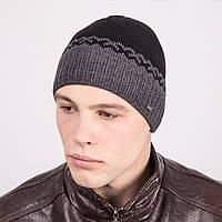 Стильная вязаная мужская шапка - Артикул m19