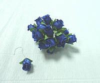 Цветы искусственные-62. Розы синие, 1,5см
