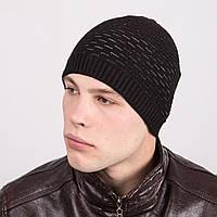 Мужская молодежная вязаная шапка - Артикул m26b