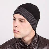 Вязаная мужская зимняя шапка - Артикул m41b