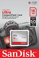 Карта памяти SanDisk 16GB CF Ultra R50MB/s (SDCFHS-016G-G46)