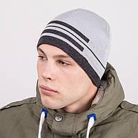 Модная вязаная мужская шапка casual - Артикул m51а