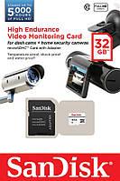 Карта памяти SanDisk 32GB microSDHC C10 W20MB/s High Endurance Video Monitoring + SD