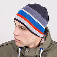Вязаная зимняя мужская шапка в стиле casual - Артикул m52а