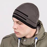 Зимняя вязаная мужская шапка в стиле casual - Артикул m51с