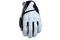 Мотоперчатки FIVE Sport City кожа белый черный M