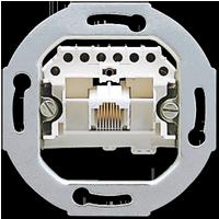 Механизм телефонной розтки двухпортовой Eco profi JUNG