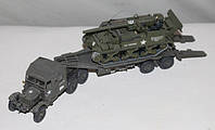 """Модели 1:72. Американских: грузовика-тягача """"Мак НР-14"""" с прицепом и САУ М12 """"Кинг-Конг"""". 2-ая мировая война."""