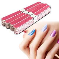 Пилочка наждак для ногтей красная прямая