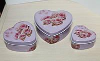 """Набор из 3 коробочек """"Роза"""" для чая и кофе (сахара, печенья)"""