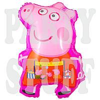Воздушный шарик Свинка Пеппа, розовая, 58 см