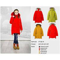 Куртка зимняя красная для девочки Goldy (37-ЗД-16)
