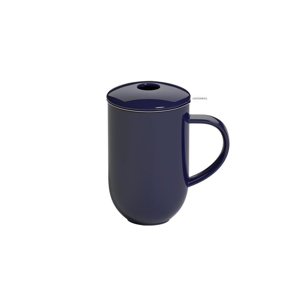 Висока чашка з сітечком та кришечкою 450 мл Pro Tea 450ml Mug with Infuser & Lid (Denim)