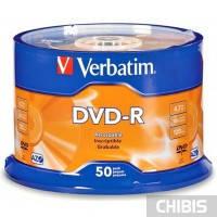 Диск VERBATIM DVD-R 4,7Gb 16x Cake 50 pcs 43548