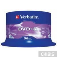 Диск VERBATIM DVD+R 4,7Gb 16x Cake 50 pcs 43550