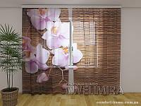 ФотоТюль Орхидеи и дерево