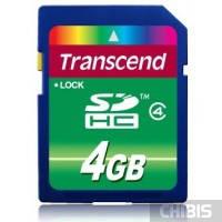 Карта памяти Transcend SDHC Class 4 4Gb