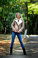 Женская замшевая дубленка, фото 1