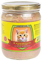 Консервы для котов Леопольд Премиум, мясной деликатес, с мясом и овощами, 500 гр (стекло)