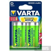 Аккумуляторы D Varta 3000 mAh Power R2U HR20, 1.2V, Ni-Mh 1/2 шт. 56720101402