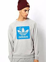 Спортивная кофта Adidas\Адидас, синий Адидас, серая кофта, ф57