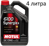 Масло моторное 10W-40 (4л.) Motul 6100 Synergie+
