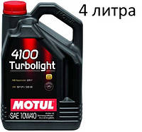 Масло моторное 10W-40 (4л.) Motul 4100 Turbolight , фото 1